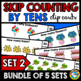 SKIP COUNTING BY 10S CENTERS (100TH DAY OF SCHOOL KINDERGA