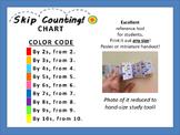 SKIP COUNTING - Chart!