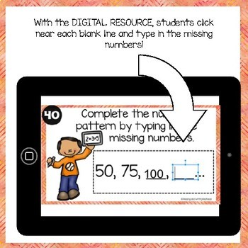 SKIP COUNTING - Digital Task Cards for use with Google™ - Printable Task Cards