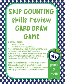 SKIP COUNTING SKILLS MBSP REVIEW GRADE 2