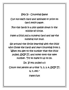 SKIP IT - PreK Counting Game