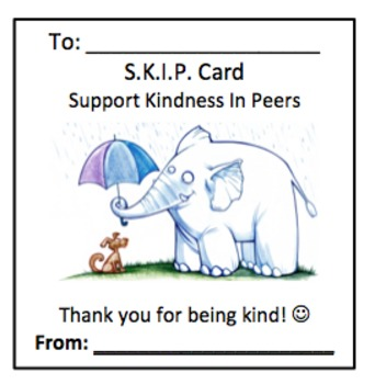 SKIP cards (Support Kindness In Peers)