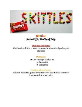 SKITTLES Scientific Method Activity