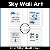 SKY HIGH - Set of 4 High Quality PDF Prints - Wall Art