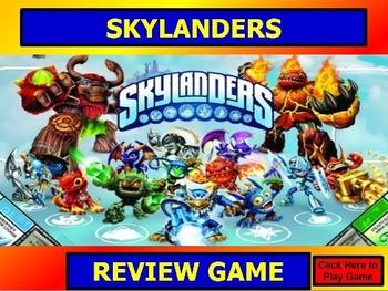 SKYLANDERS REVIEW GAME TEMPLATE POWERPOINT