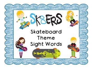 SKateboard Theme Sight Words