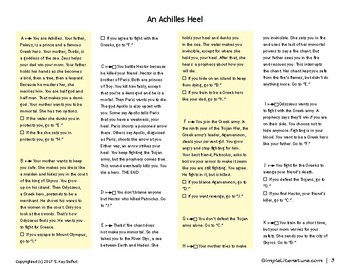 "SL - An Achilles Heel Foldable Booklet - ""What Will You Do?"" Series - Greek Myth"