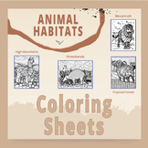 Animal Habitat Coloring Sheets - Combine Science With Art