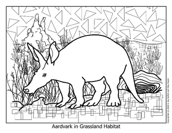 SL - Animal Habitat Grasslands - Aardvark