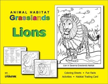 SL - Animal Habitat Grasslands - Lions