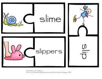 SL Blend Puzzles ~ 15 Puzzles Plus Follow Up Activities