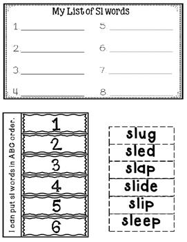 SL Blends Interactive Notebook