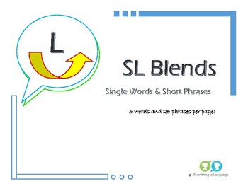 SL Blends Single Words and Phrases