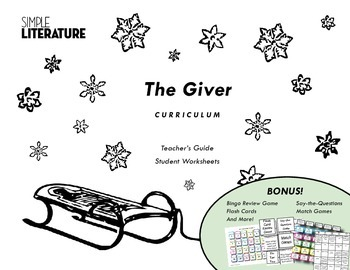 SL Book Unit: The Giver - FREE Curriculum for Chapters 1-4