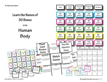 SL Games: 30 Bones in the Human Body