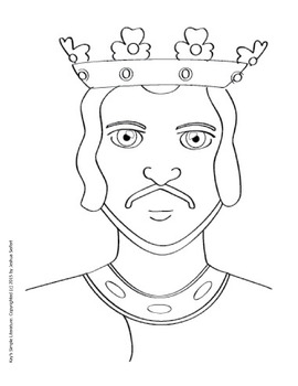 SL Clip Art - Medieval Kings - King Richard - King John Images / Coloring Sheets