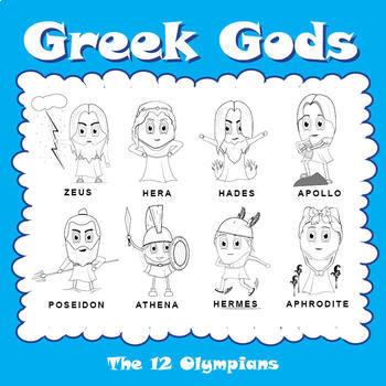 Sl Greek Gods The 12 Olympians Summary Sheets Crossword Puzzle Quiz