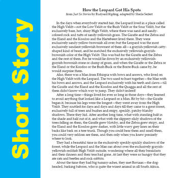 SL - How the Leopard Got His Spots - Quick & Easy Short Story Curriculum