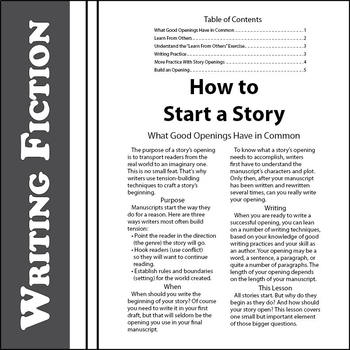 what is a good way to start a story