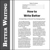 SL How to Write Better: A Simple Way to Discover Your Emer