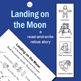 SL - Landing on the Moon - A READ-and-WRITE Rebus Story - Informative Text