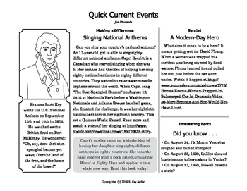 SL FREE - Quick Current Events for Students