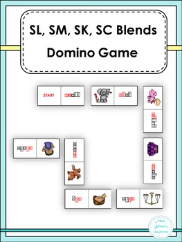 SL, SM, SK, SC Blends Domino Game