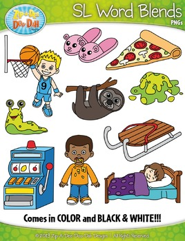 SL Word Blends Clipart Set — Includes 20 Graphics!