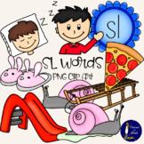 SL Words Clip Art