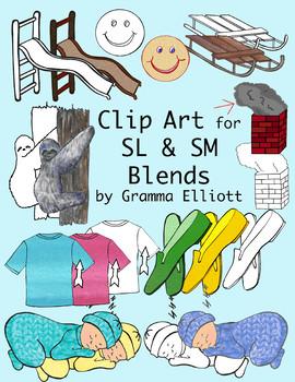 SL and SM Blends Clip Art - Realistic - 300 dpi PNG