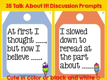 SL.1, SL.2, SL.3 Speaking and Listening Discussion Prompts CCSS Grades 3 4 5