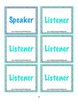 SL.1.3 First Grade Common Core Worksheets, Activity, and Poster