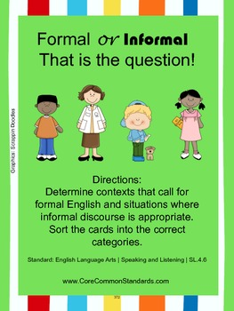 SL.4.6 Fourth Grade Common Core Worksheets, Activity, and Poster