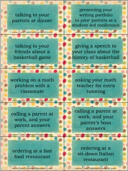 SL.5.6 Fifth Grade Common Core Worksheets, Activity, and Poster