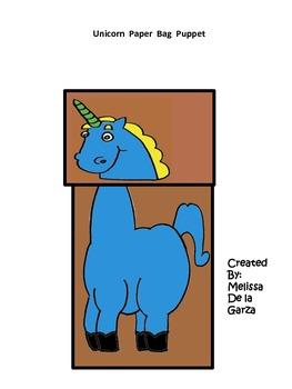 "SLA ""Uu"" unicornio Paper Bag Puppet"