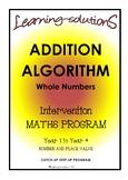 ADDITION ALGORITHM - Whole Class Program - Includes Screener for Differentiation