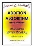ADDITION & SUBTRACTION ALGORITHMS - Whole Class/Differentiated - BUNDLE - 400+p