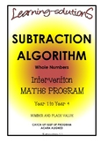 SUBTRACTION ALGORITHM - Whole Class Program - Includes Screener/Differentiation
