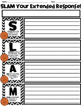SLAM Response - Worksheets and Posters