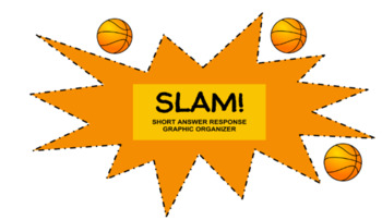 SLAM - Short Answer/Response Graphic Organizer for Middle School Students