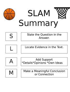 SLAM Summary/Response Poster
