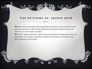 SLAM/SPOKEN WORD POETRY INTRODUCTION