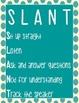 SLANT Blue Posters