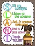 SLANT ~ Classroom Active Participation Poster {based on Dr. Archer's video}
