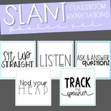 SLANT Classroom Expectations Posters