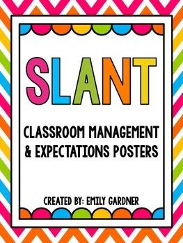 SLANT Classroom Posters FREEBIE