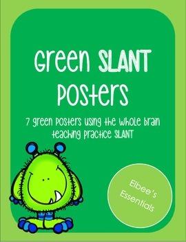 SLANT Green Posters