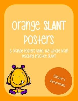 SLANT Orange Posters