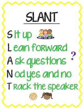 SLANT Poster for Active Listening