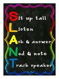 SLANT Poster- Chalkboard and Rainbow
